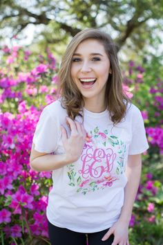 34c8d223 Monogram T Shirts, S Monogram, Flower Shorts, Spring Flowers, Editor, Preppy