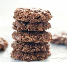 Oatmeal Cookies No Flour, Easy No Bake Cookies, Chocolate Oatmeal Cookies, Sweet Cookies, Chocolate Flavors, Peanut Butter Roll, Creamy Peanut Butter, Tahini, Melt Chocolate In Microwave