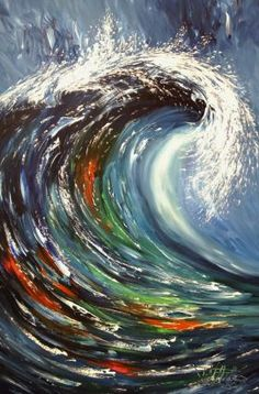Painting abstract ocean waves 55 Ideas for 2019 Abstract Waves, Abstract Art, Seaside Art, Wave Art, Abstract Expressionism Art, Seascape Paintings, Art Paintings, Ocean Waves, Acrylic Painting Canvas