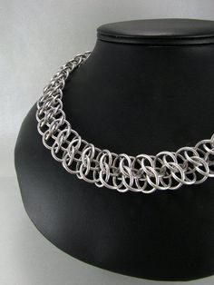 Silver Lace Chainmaille Necklace - Janabolic