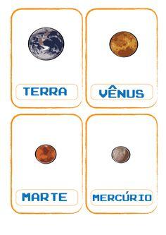 Flash cards: sistema solar.
