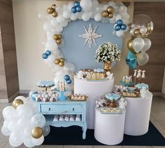 Baptism Themes, Baptism Party, Air Balloon, Balloons, Easter Bunny Decorations, Christening, Diana, Backdrops, Baby Boy