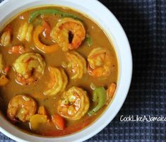 Recipes Jamaican : The Best Jamaican Curry Shrimp Recipe Ever - Recipes Jamaican Video Recipes Jamaican This recipe is soooo delicious and easy to make! We stand by our claim that it's the best Curry Shrimp Dishes, Fish Dishes, Shrimp Recipes, Fish Recipes, Main Dishes, Jamaican Cuisine, Jamaican Dishes, Jamaican Recipes, Curry Shrimp Jamaican