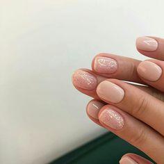 160 stylish nail designs for short nails – page 21 Blush Pink Nails, Nude Nails, Nail Manicure, Acrylic Nails, Pretty Nails, Gorgeous Nails, Finger, Short Nail Designs, Dream Nails