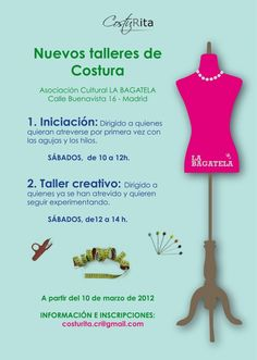 1000 images about cafe costura on pinterest costura for Taller de costura madrid
