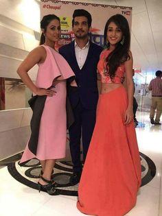 Tanya sharma with hina khan and arjun bijlani in show desh ka daver Heena Khan, Arjun Bijlani, Indian Show, Pooja Sharma, Indian Tv Actress, Tv Actors, Indian Dresses, Bridesmaid Dresses, Homecoming Dresses