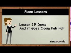 Piano Lesson 19 Demo - And It Goes Ooom Pah Pah