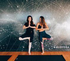 Daniella Monet in the Alo Yoga Airbrush Capri in Tree Lace Black #yoga #yogainspiration #daniellamonet