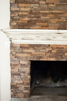 Beautiful iron fireplace with over mantle mirror above | abide ...