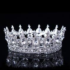 Hot Disegni Europei Dell'annata Del Pavone Di Cristallo Tiara Nuziale Corona Diadema Del Rhinestone Diademi Crowns Pageant
