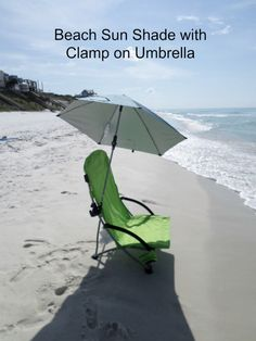 A Clamp On Umbrella That Will Fit Just About Any Beach Chair You Already Own Protects Your Face An Chairs With Umbrellas Or Canopy