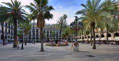 Pla�a Reial in Barcelona