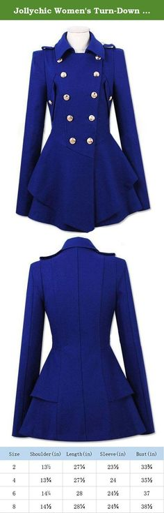 Jollychic Women's Turn-Down Collar Double-Breasted Slim Wool Peplum Jacket Coat Size 8 US Blue. -We need 3-5 days to prepare and ship the order,which usually takes 7-15 days to be delivered.Any problem,please feel free to contact us,we will do our best to help you. -JollyChic is one of the web's first online stores and has been helping the fashion-conscious look fabulous since 2008. -JollyChic provides popular garments for both individuals and wholesalers. We offer a whole catalogue of...