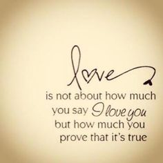 Thank you for always proving it to be true! Words with actions makes it 10 time stronger