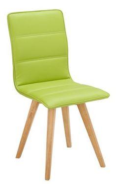 Trendiger Stuhl im Lederlook in Grün - Sitzkomfort mit Stil