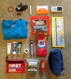 Day hiking #hiking pack list - http://officebento.blogspot.com