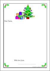 Letter to santa word mat sb11799 sparklebox christmas letters to santa writing frames without lines sb10940 sparklebox spiritdancerdesigns Images