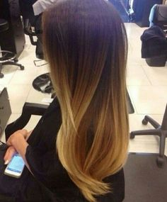 straight hombre hair  | Straight Ombre Hair Kate Beckinsale light brown balayage ombre hair ...