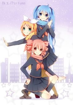 Image result for miku and teto and rin