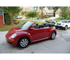 Red Convertible Bug! For some reason I always thought this would be my first car