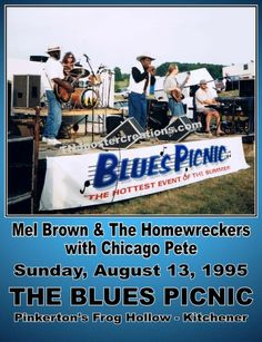 Mel Brown at The Blues Picnic Poster, available at mygenerationshop.com
