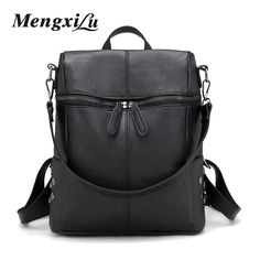 MENGXILU New Arrive Women PU Leather Backpacks Female Casual Travel School Bags For Teenagers High Quality Women Shoulder Bags