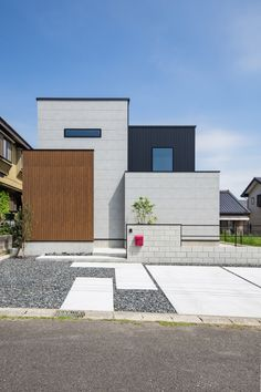 Colour Architecture, Minimalist Architecture, Modern Architecture, Small House Design, Industrial House, Facade House, House Front, Modern Minimalist, House Plans