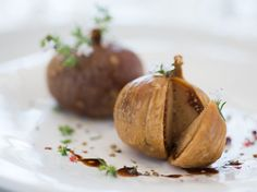Figs stuffed with Foie Gras Dessert Restaurant, Fast Growing, Baked Potato, Entrees, Nom Nom, Buffet, Special Occasion, Healthy Recipes, Healthy Food