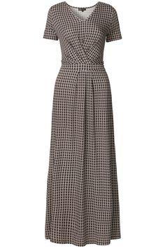 Ethnic Light | Summer collection | Dress | Maxi | Print all over | Strik ceintuur | Grey