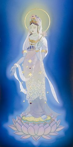 聖観音 - 現代美術絵画・草場一壽 陶彩画の世界