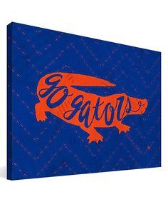 Look at this Florida Gators Mascot Wrapped Canvas on today! Florida Gators Football, Lsu, Gator Football, Boys Football Room, Canvas Display, Florida Girl, School Fundraisers, Mascot Design, Canvas Art