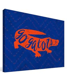 Look at this Florida Gators Mascot Wrapped Canvas on #zulily today!