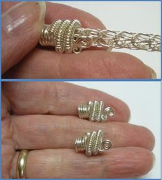 Best Viking Knit Bracelet Tutorial I have seen. Also directions for a wire end cap. From scribd.com