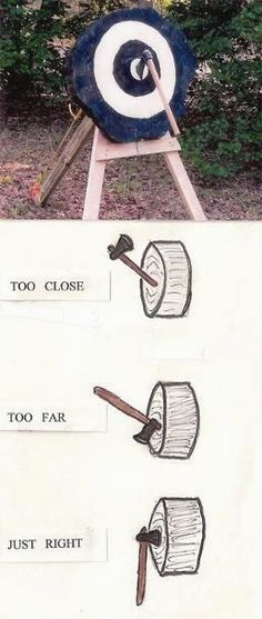 How to Throw a Tomahawk. My kids know this from many years…