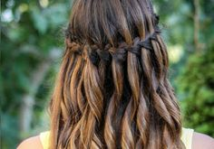 simple waterfall braid & curls hair and beauty tutorials 26 sweet waterfall french braid hairstyles slodive 10 pretty waterfall french … Waterfall French Braid, Waterfall Braid With Curls, Braids With Curls, Waterfall Hair, Updo Curls, Spiral Curls, Side Braids, Soft Curls, Hair Updo