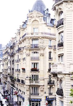 Balconies in Paris.