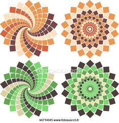 Clipart - vecteur, mosaïque, fleur k6714045 - Recherchez des Clip Arts, des Illustrations, des Dessins et des Images Vectorisées au Format EPS - k6714045.eps Tile Crafts, Mosaic Crafts, Mosaic Projects, Stained Glass Light, Stained Glass Patterns, Mosaic Patterns, Flower Patterns, Mosaic Glass, Mosaic Tiles