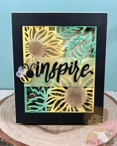 Blooming Sunflower Background Dies #DIY #Cards Blooming Sunflower, Sunflowers Background, I Card, Brand Names, Card Making, Scrapbook, Frame, Creative, How To Make