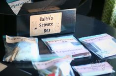 Science Experiment Box--kids gift idea---with free printables too!
