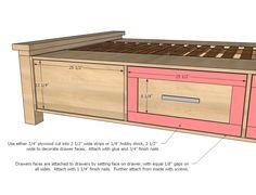 Ana Branco | Construir uma casa de fazenda de armazenamento de cama com gavetas de armazenamento | Free and Easy Projeto DIY e Planos de Móveis