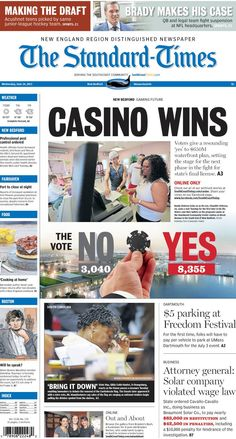The Standard-Times. June 24, 2015.  New Bedford votes in favor of casino