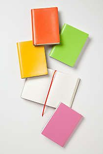 Anthropologie - Neon Leather Journal