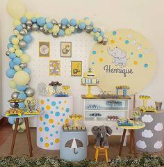 First Birthday Party Themes, Birthday Balloon Decorations, Boy Birthday, Birthday Ideas, Baby Shawer, Baby Boy Or Girl, Baby Shower Brunch, Baby Boy Shower, Baby Shower Centerpieces