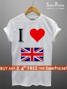 d5d52c660d UK Souvenir GB Flag T Shirts British Patriotic shirts Tourism Love Britain  Union Jack Shirts British Shirt Flag Love Shirts Adult Kids Baby