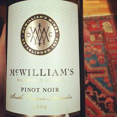 McWilliams Hardwood Estate- Pinot Noir- Under $15