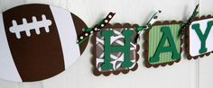 Personalized football banner