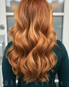 Balayage, red hair, strawberry blonde hair, beth Conlin hair, copper hair