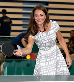 Kate Middleton knows her way around a ping-pong table.