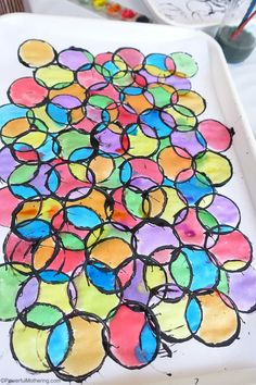 stained glass waterpaints and tp roll prints