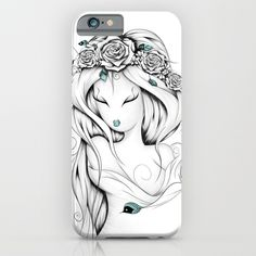 Poetic Gypsy iPhone & iPod Case #art #loujah #society6 #iphonecase #mobilecases